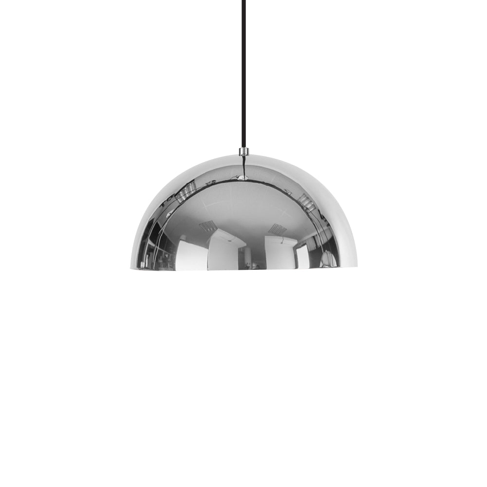 Dome Pendant - Chrome - Medium