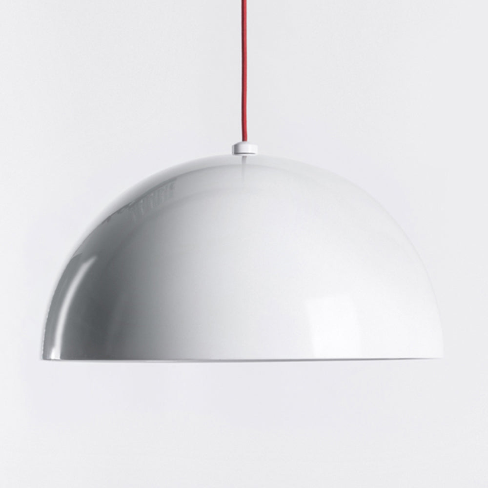 Dome Pendant - Glossy White - Medium
