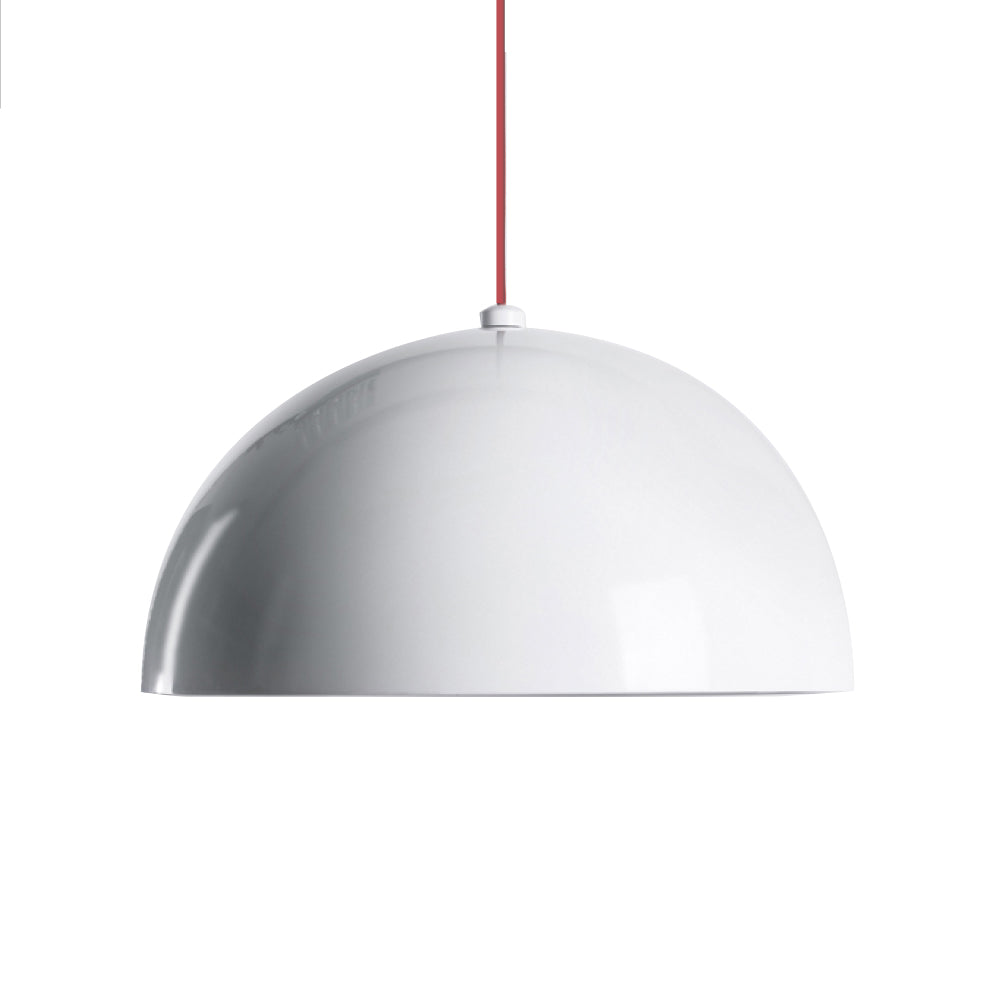 Dome Pendant - Glossy White - Large