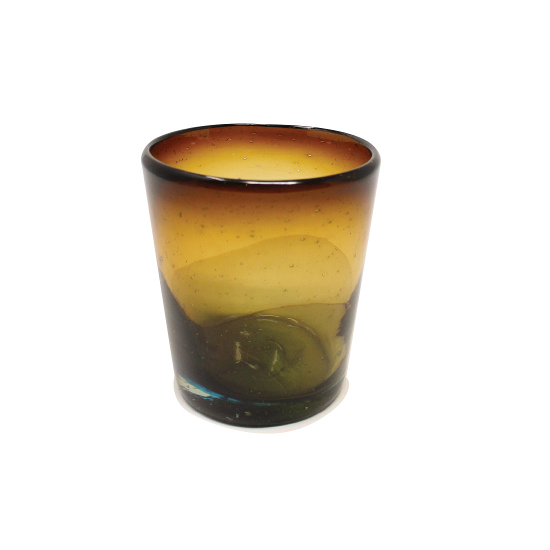 Gaspar Handblown  Glass - Ombre Amber Blue