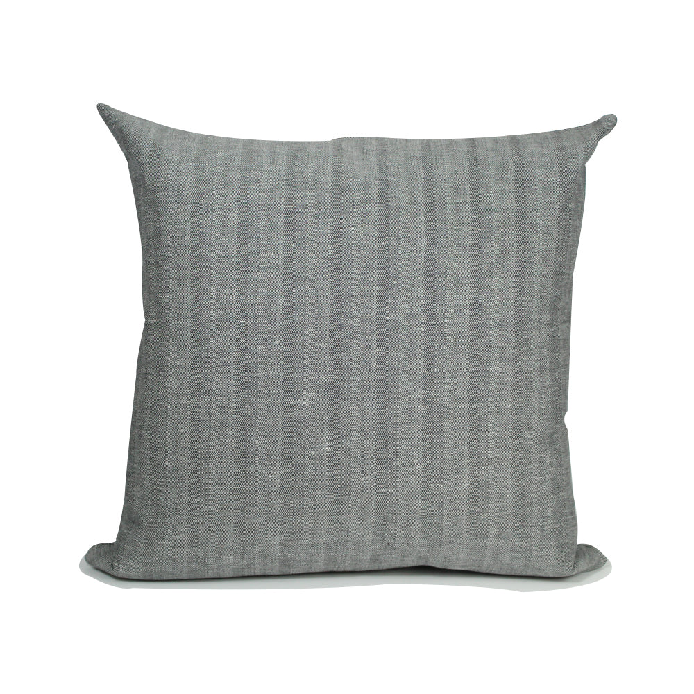 "Livia Pillow - Herringbone Grey - 20"" x 20"""