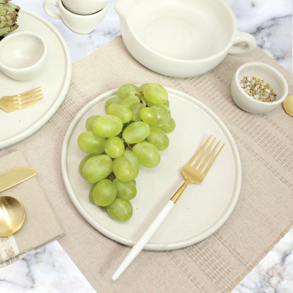 White & Gold Flatware Set of 5