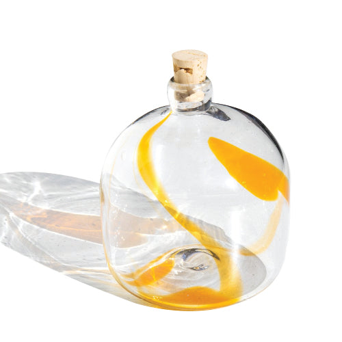 Lima Handblown  Small Bottle - Yellow