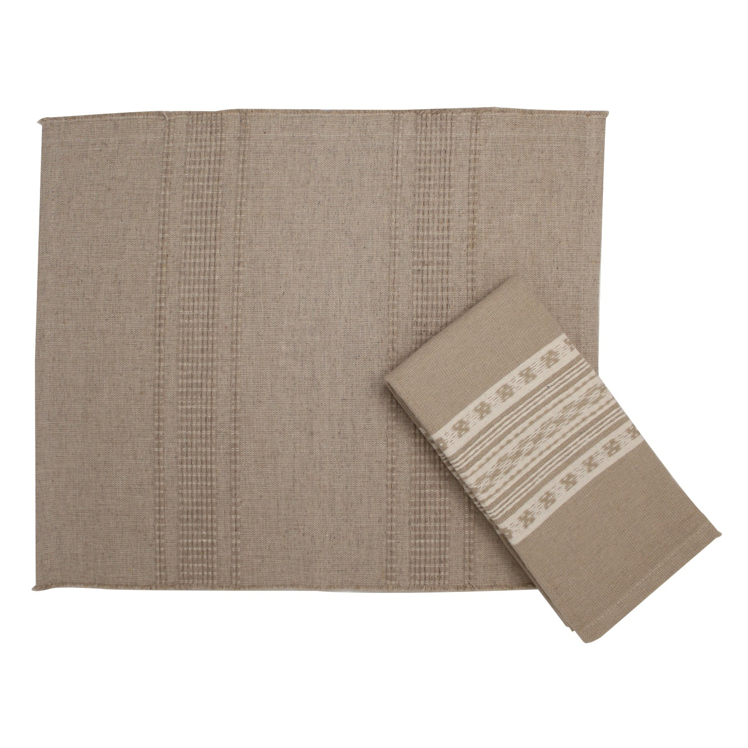 Jamil Handwoven Placemat - Oatmeal