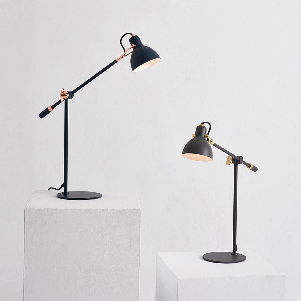 Laito Gentle Table Lamp - Navy / Copper