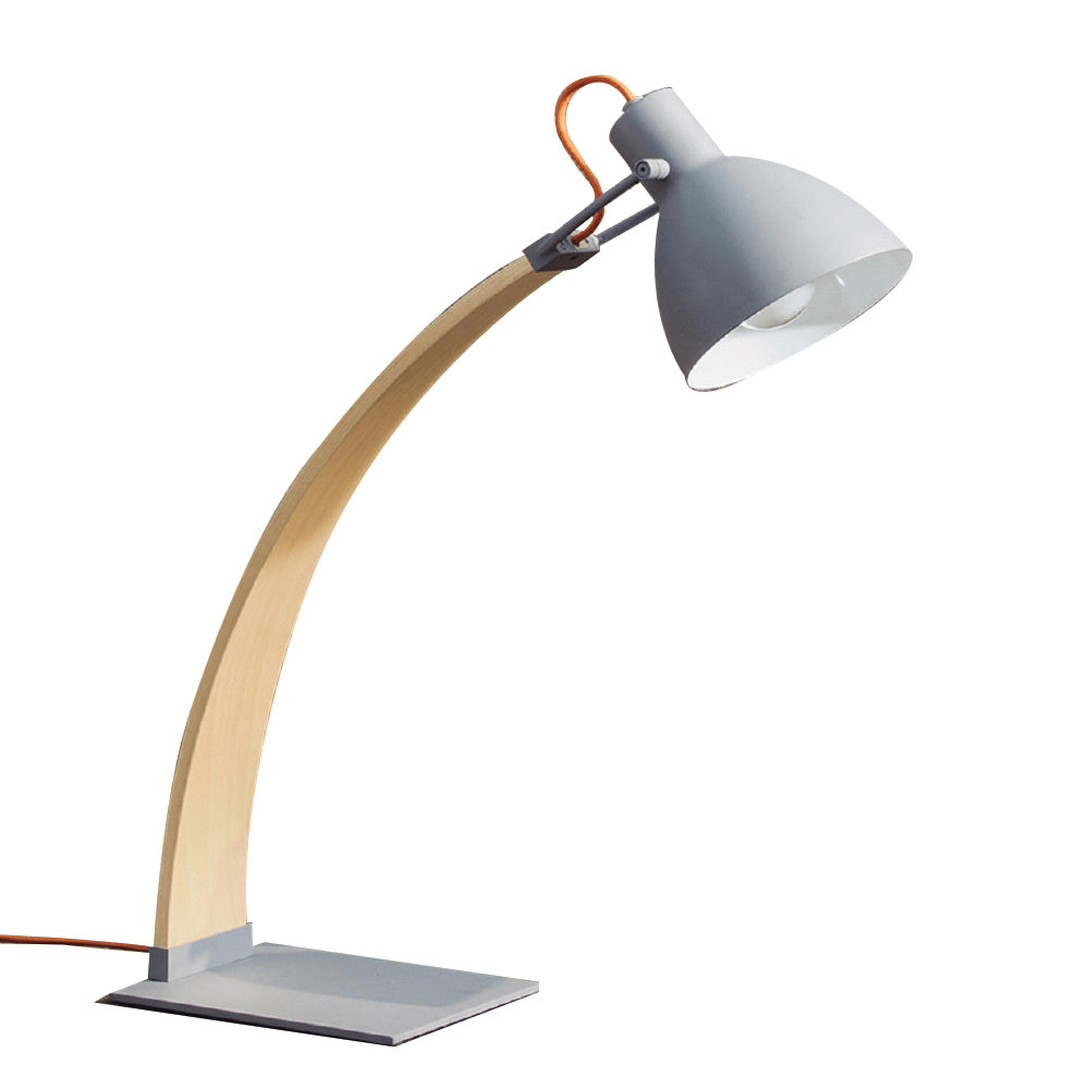 Laito Wood Table Lamp - Matte Grey / Wood
