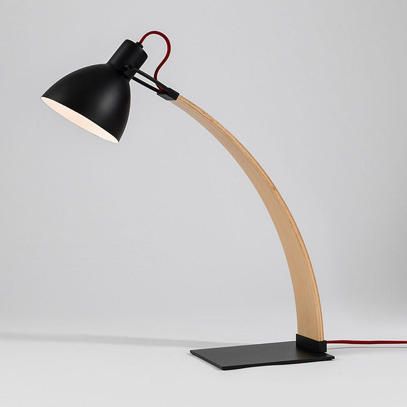 Laito Wood Table Lamp - Matte Black / Wood