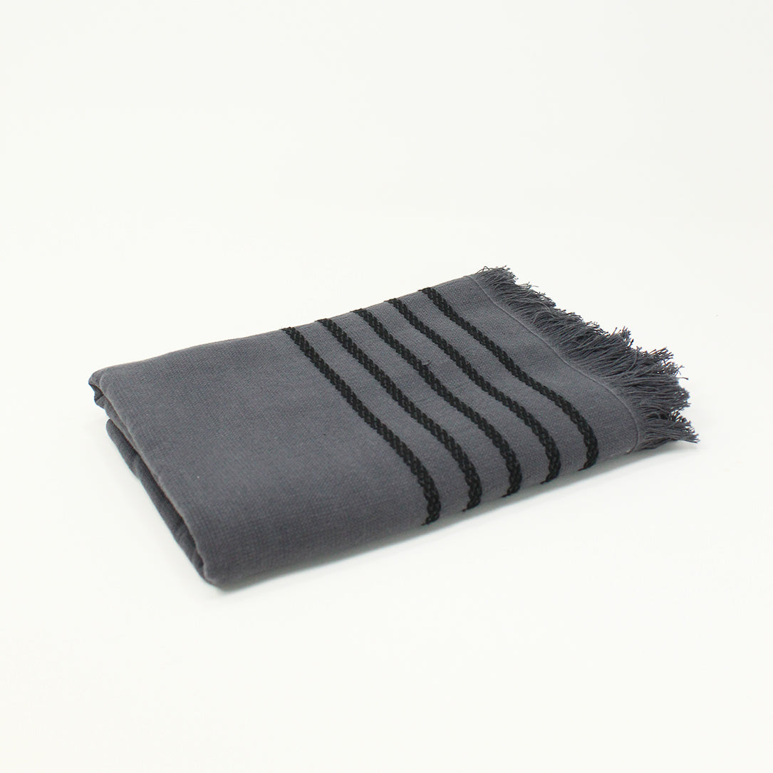 Lila Hand Towel - Anthracite