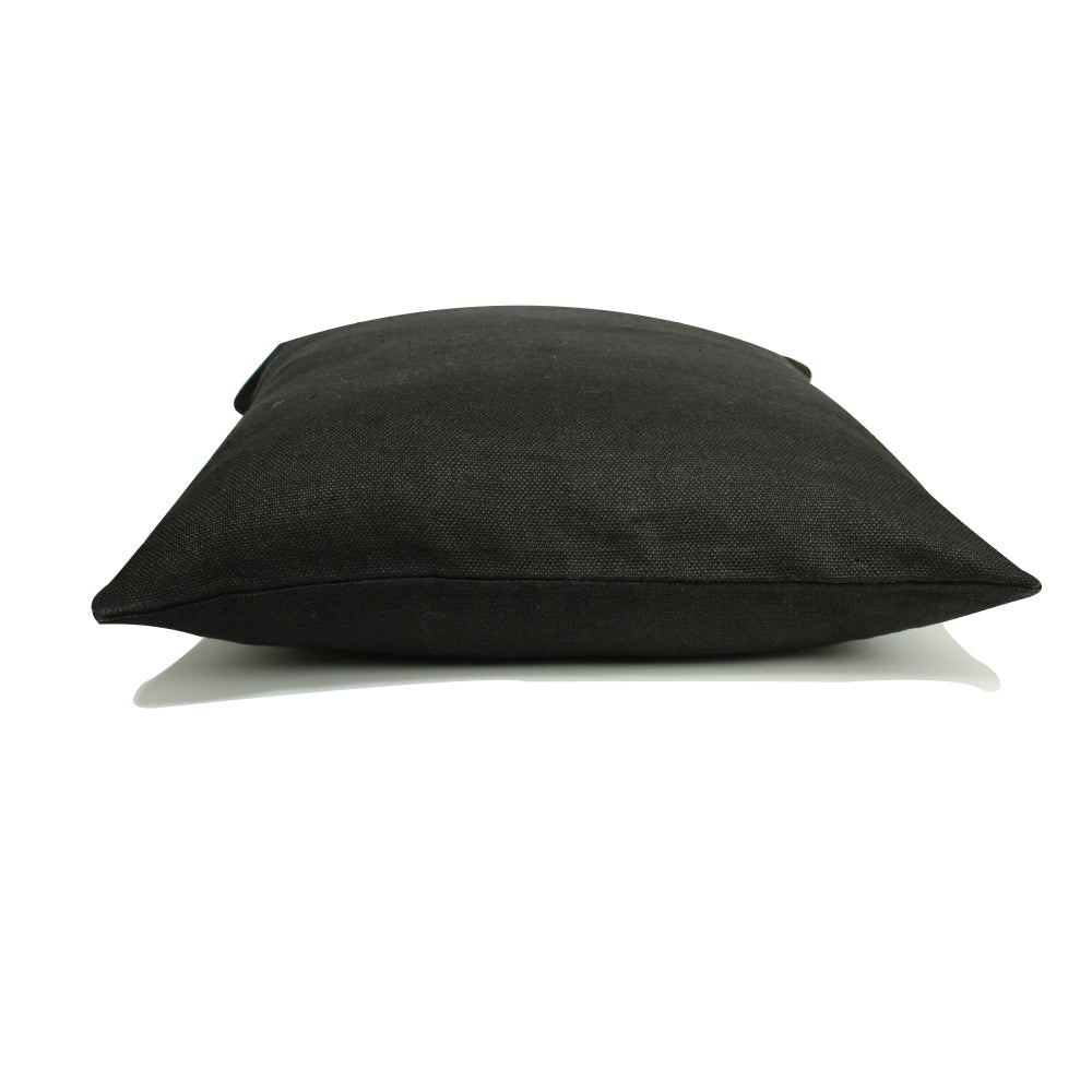 "Linen Pillow - Black - 20"" x 20"""