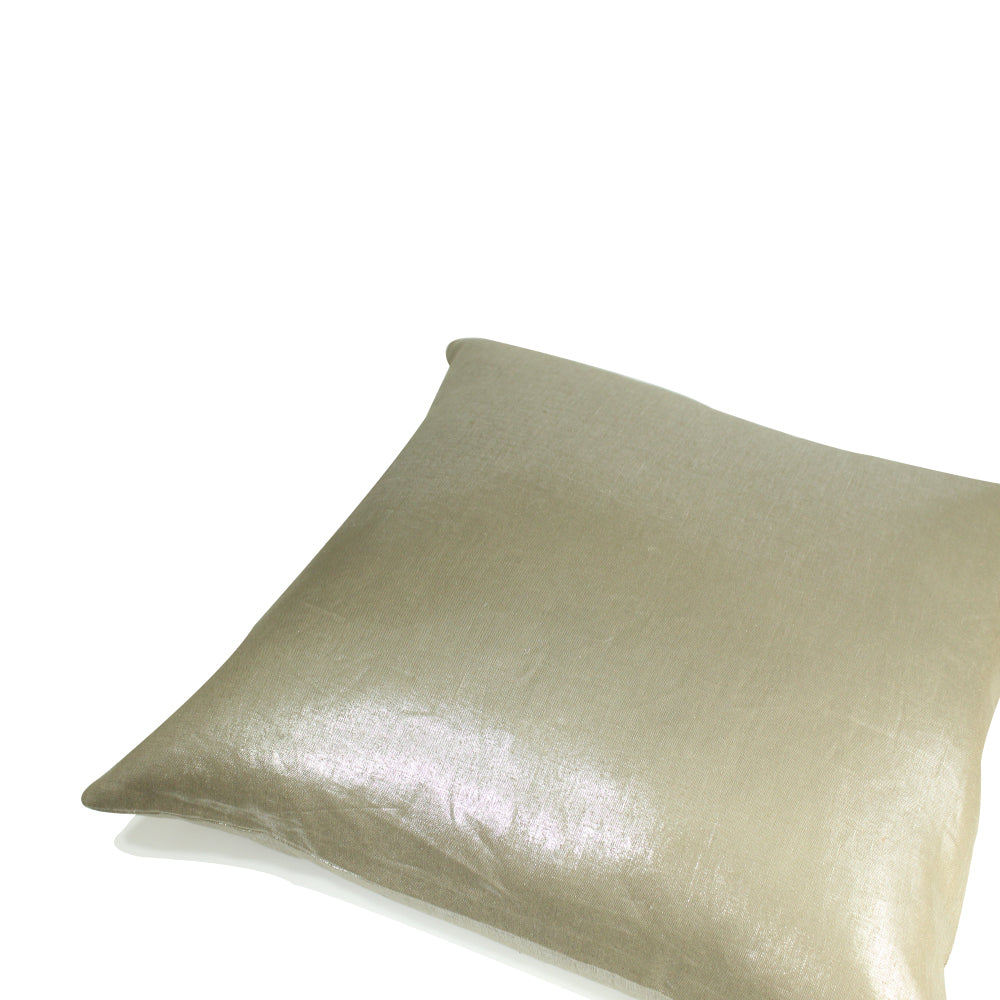 "Metallic Pillow - Dark Gold - 20"" x 20"""