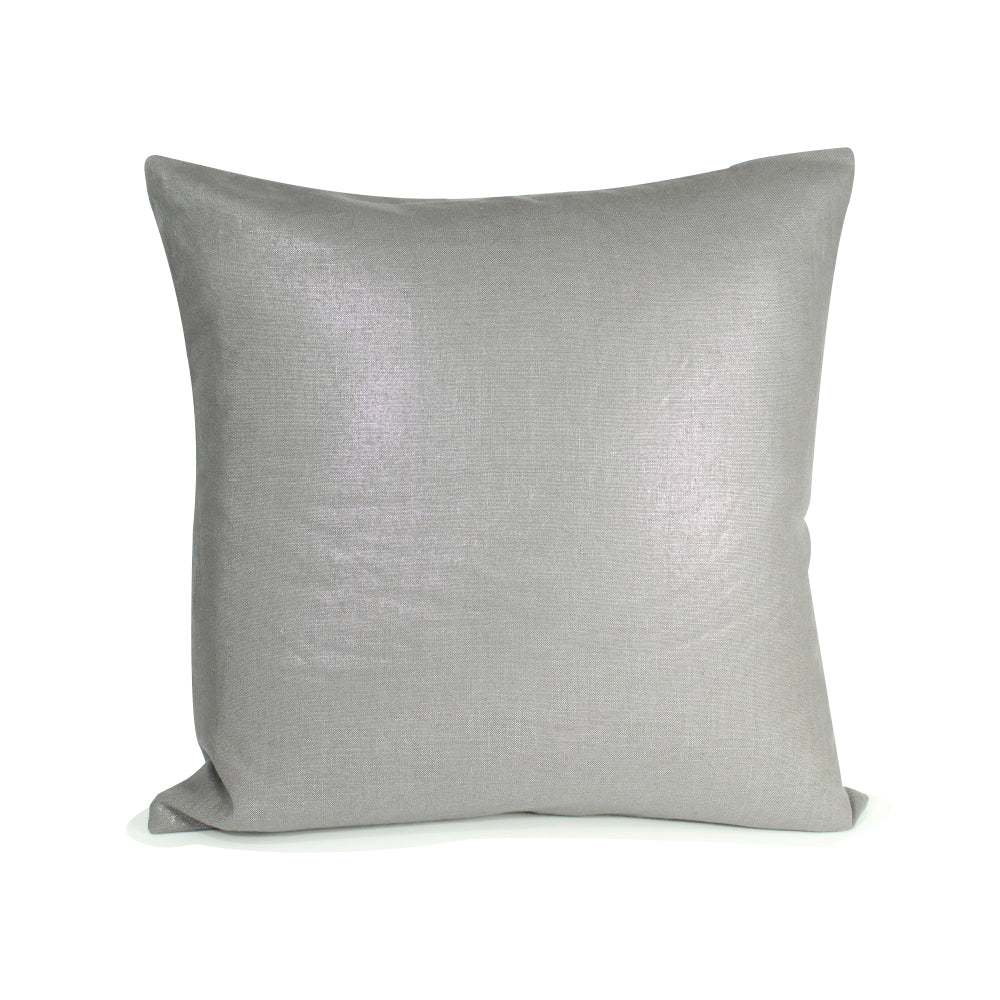 "Metallic Pillow - Silver - 20"" x 20"""