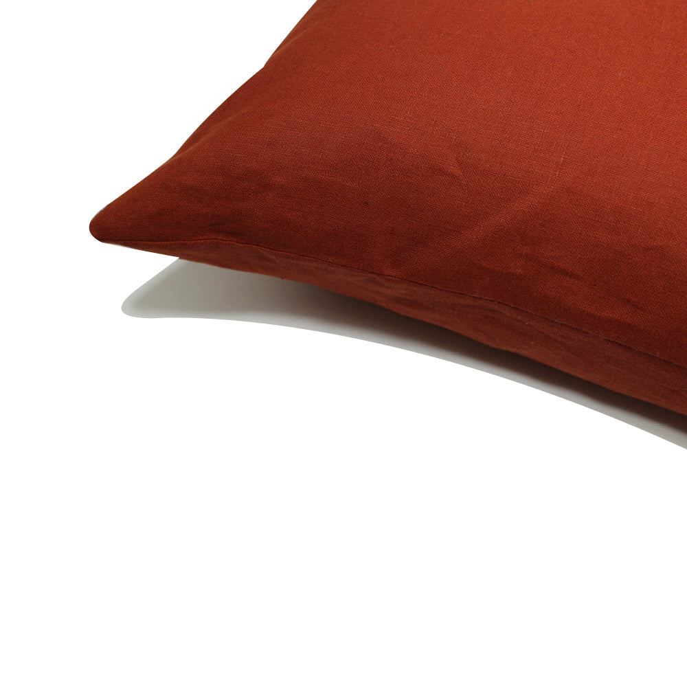 "Linen Pillow - Terracotta - 20"" x 20"""