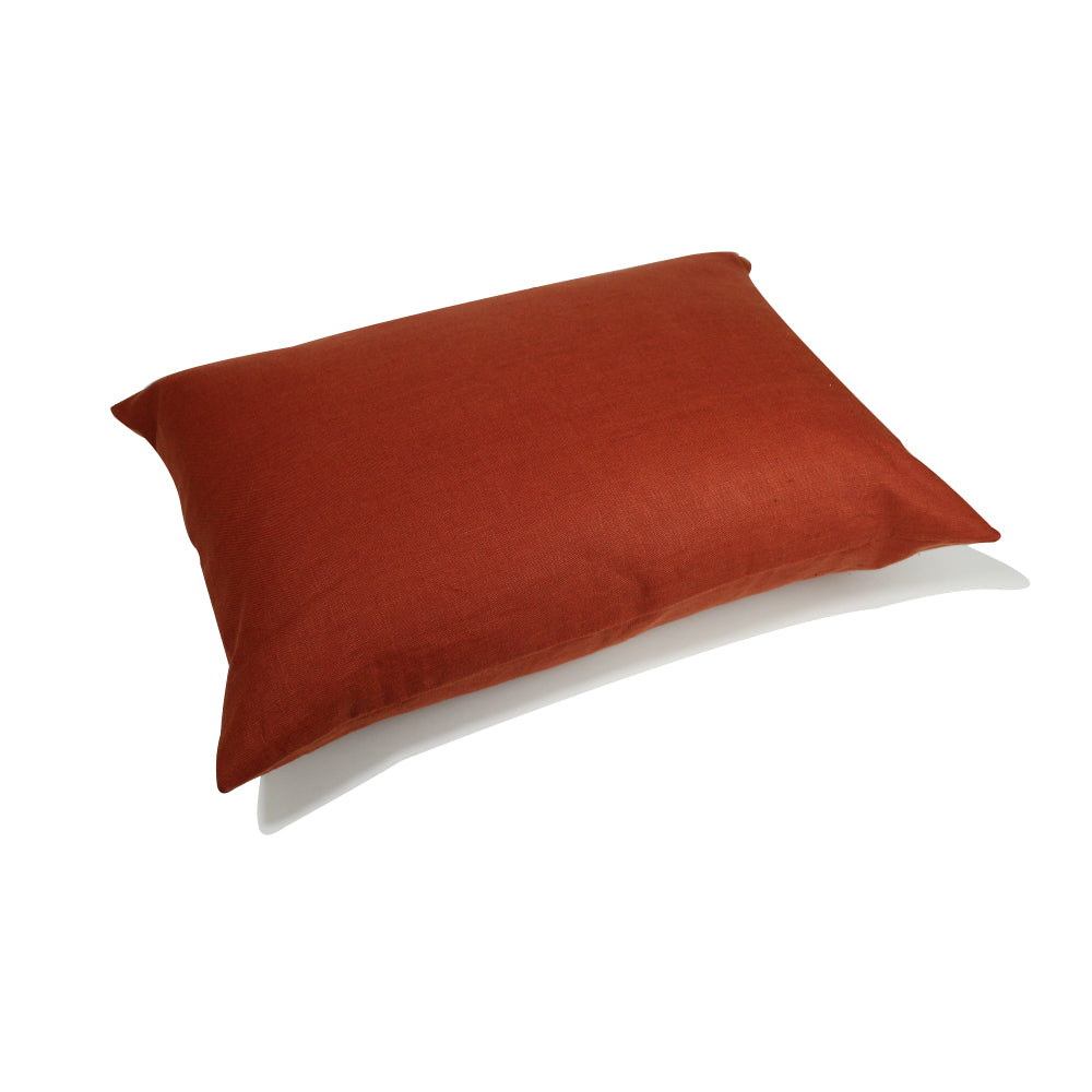 "Linen Pillow - Terracotta - 20"" x 14"""