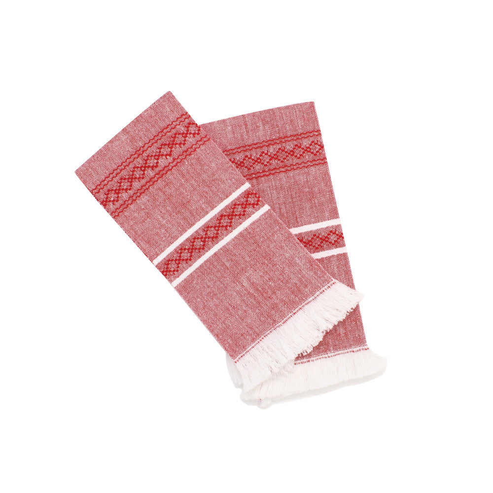 Loma Handwoven set of 2 Napkin - Cranberry