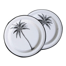 Porcelain Enamel Dinner Plate - Palm Tree