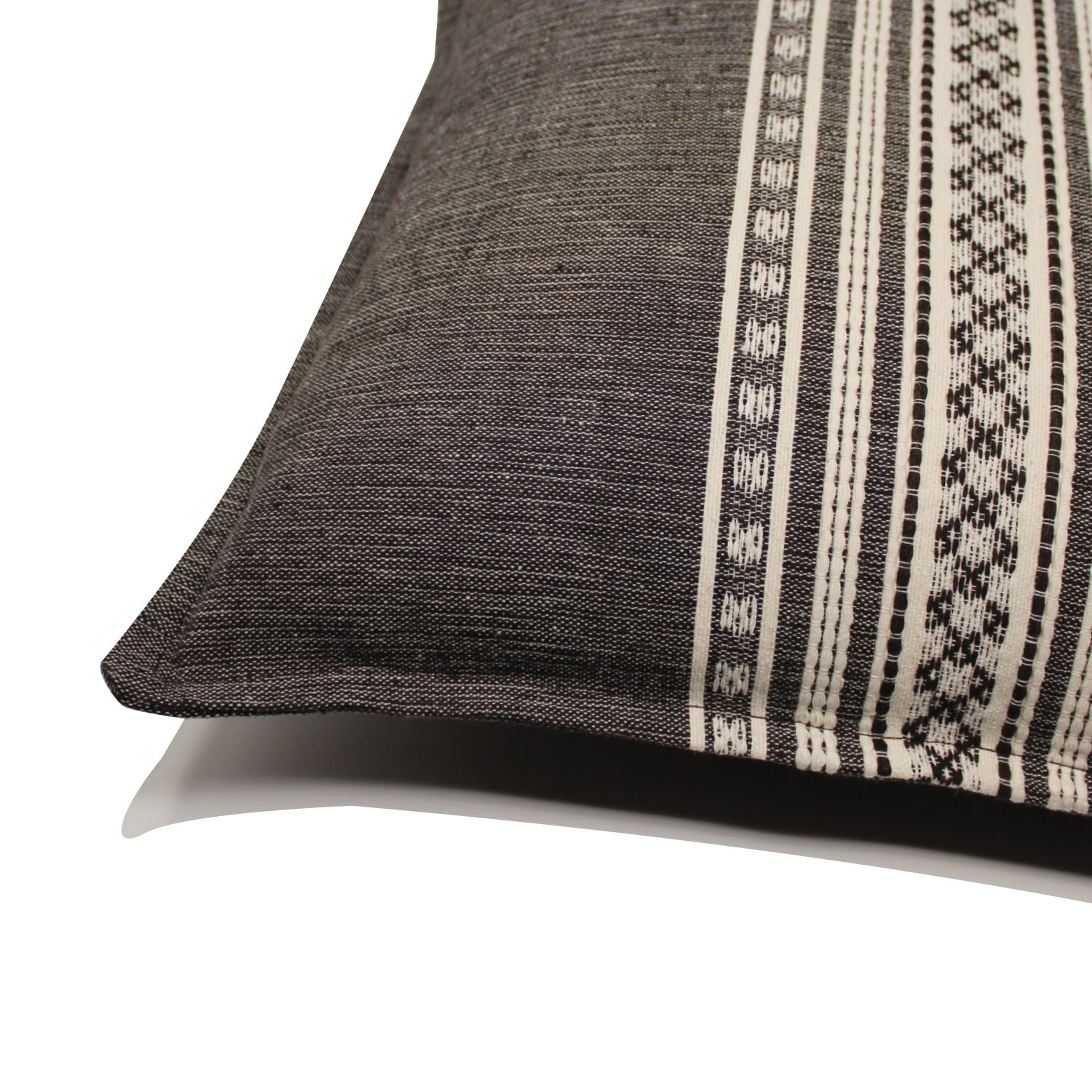 Nubari Handwoven Pillow - Charcoal