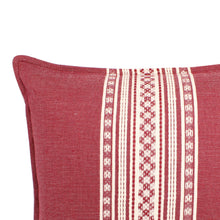 Nubari Handwoven Pillow - Cranberry