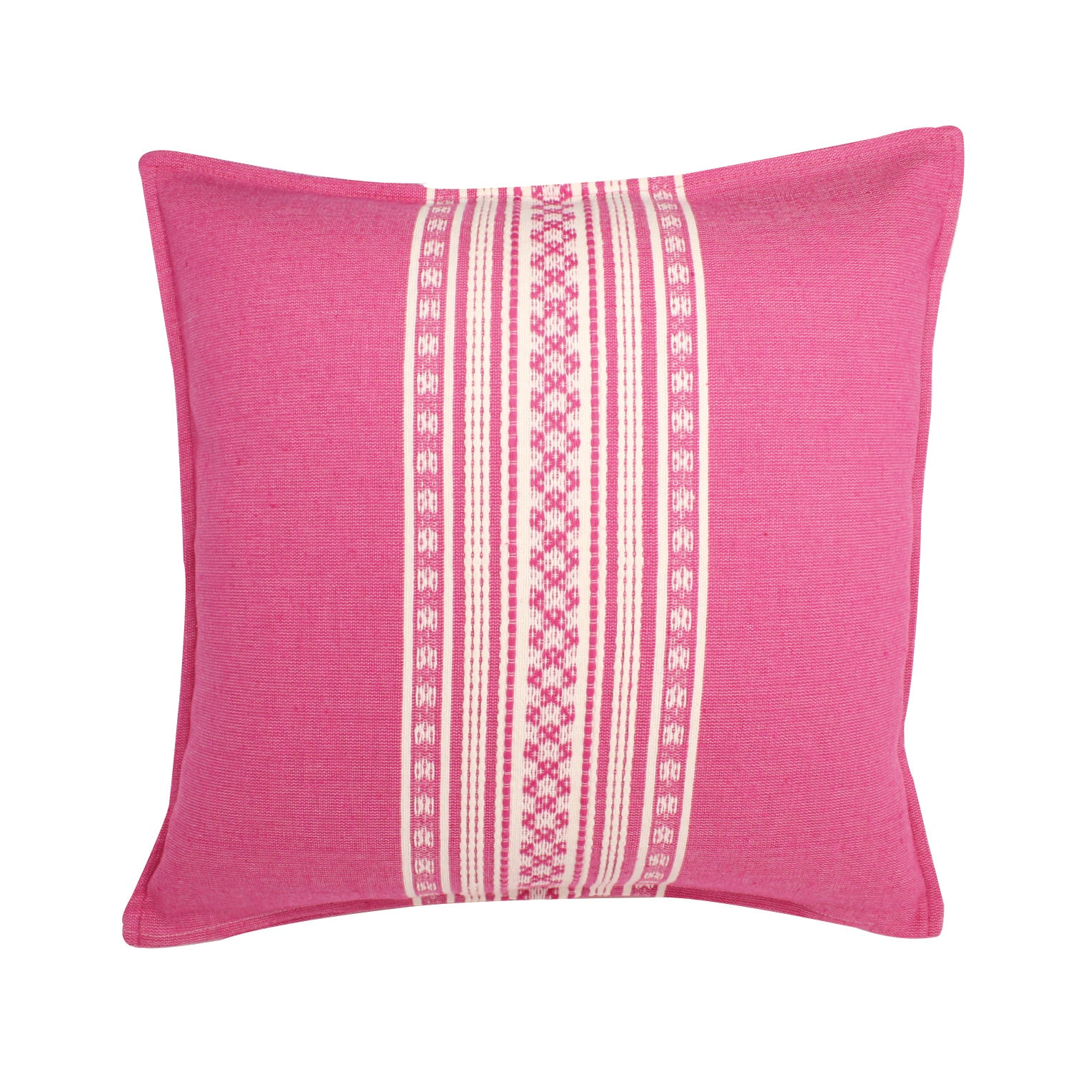 Nubari Handwoven Pillow - Fuchsia