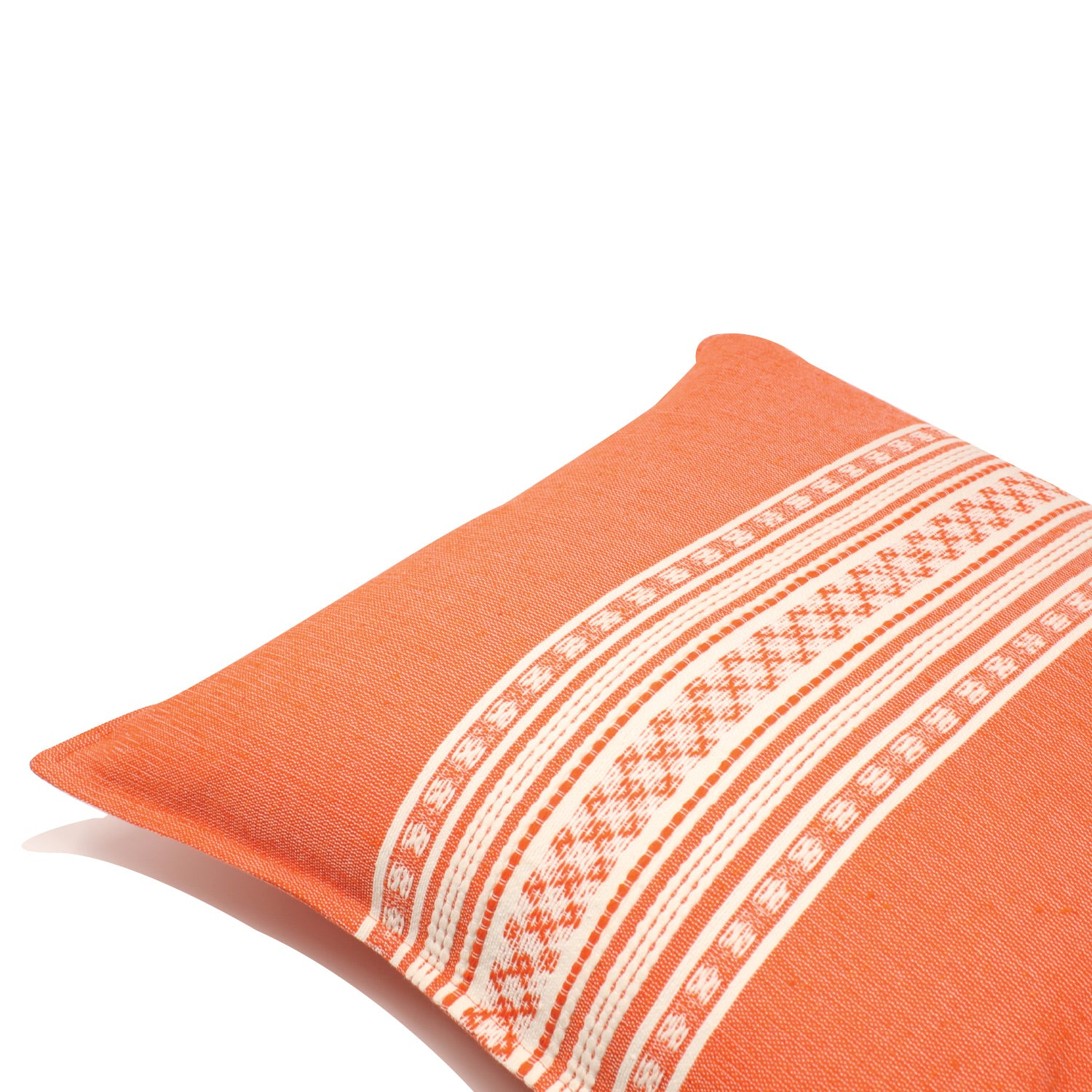 Nubari Handwoven Pillow - Orange