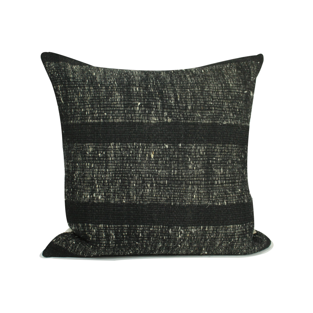 "Pinula Handwoven Pillow - Black - 20"" x 20"""