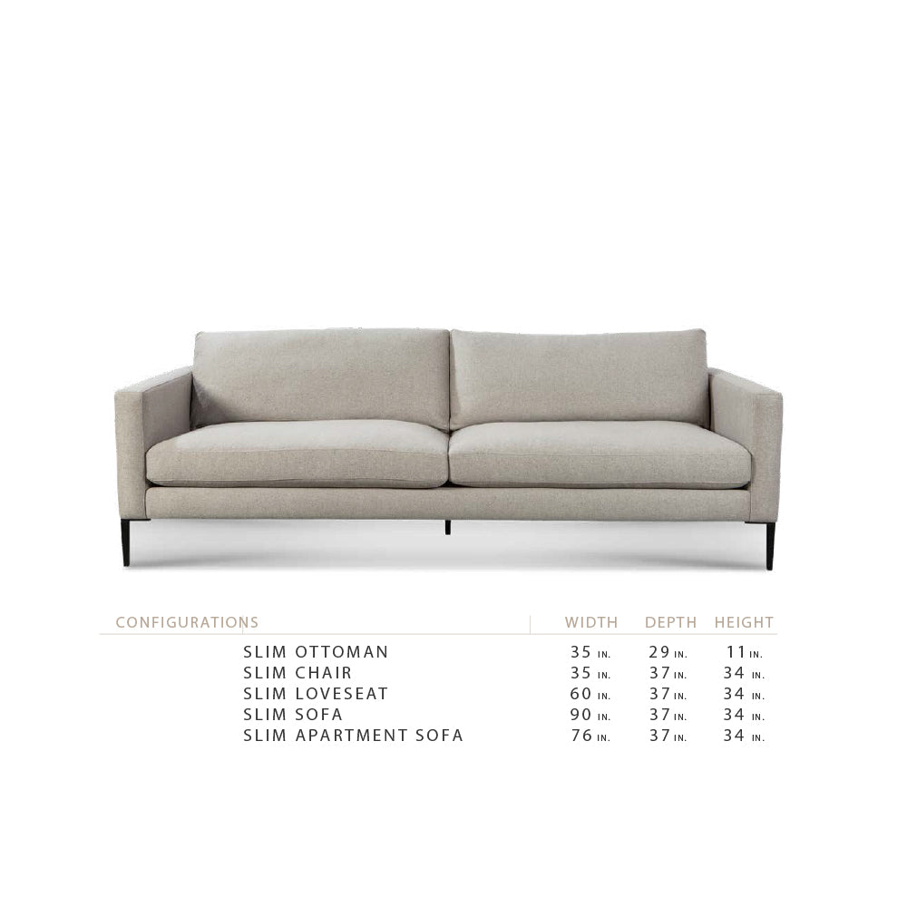 "Slim 60"" Loveseat"