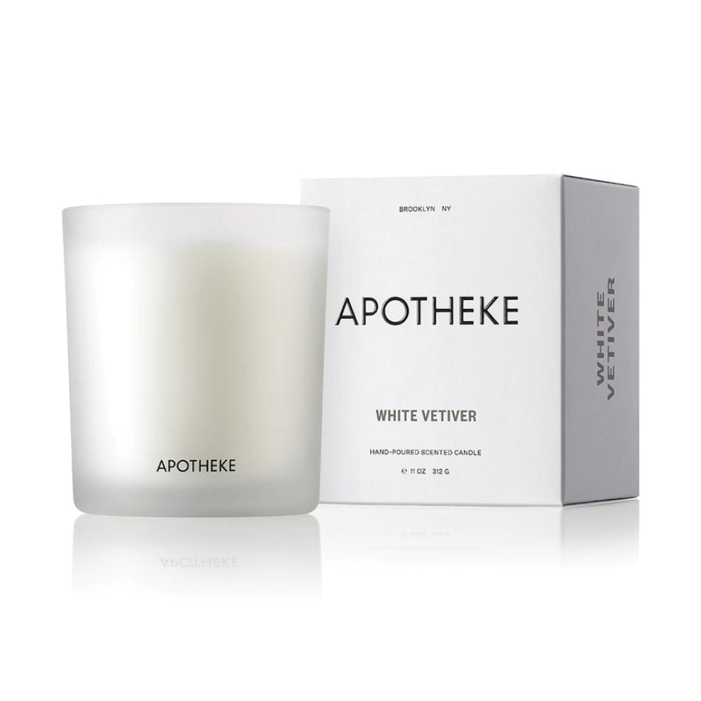 White Vetiver Hand-poured Candle - 11 oz.