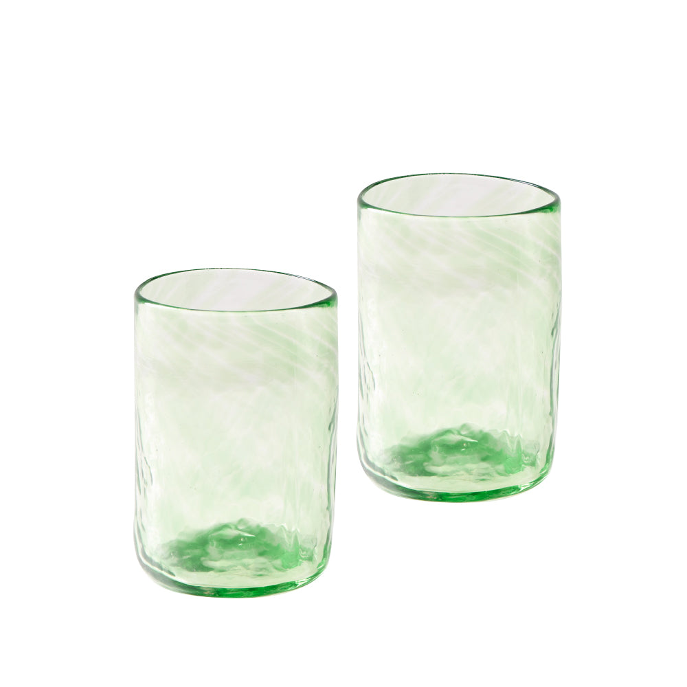 Lena Handblown Medium Glass - Green