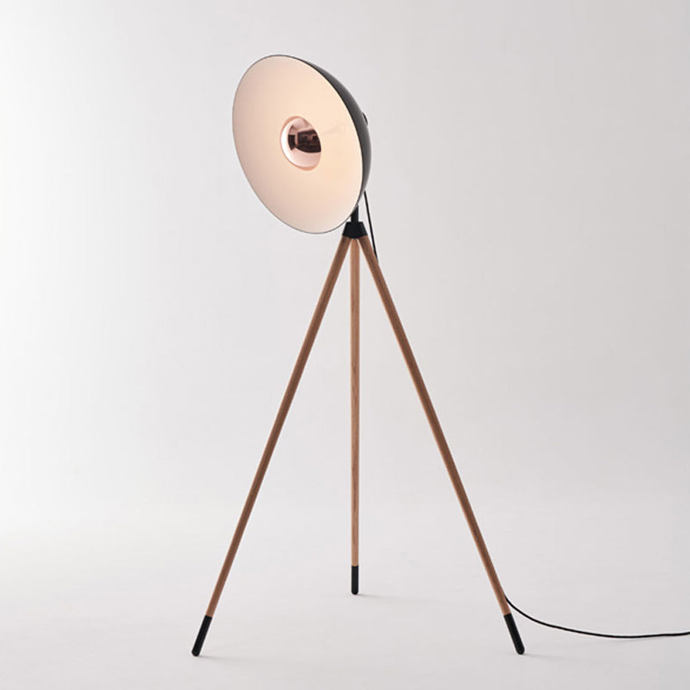 Apollo Floor Lamp - Matte Black / Wood