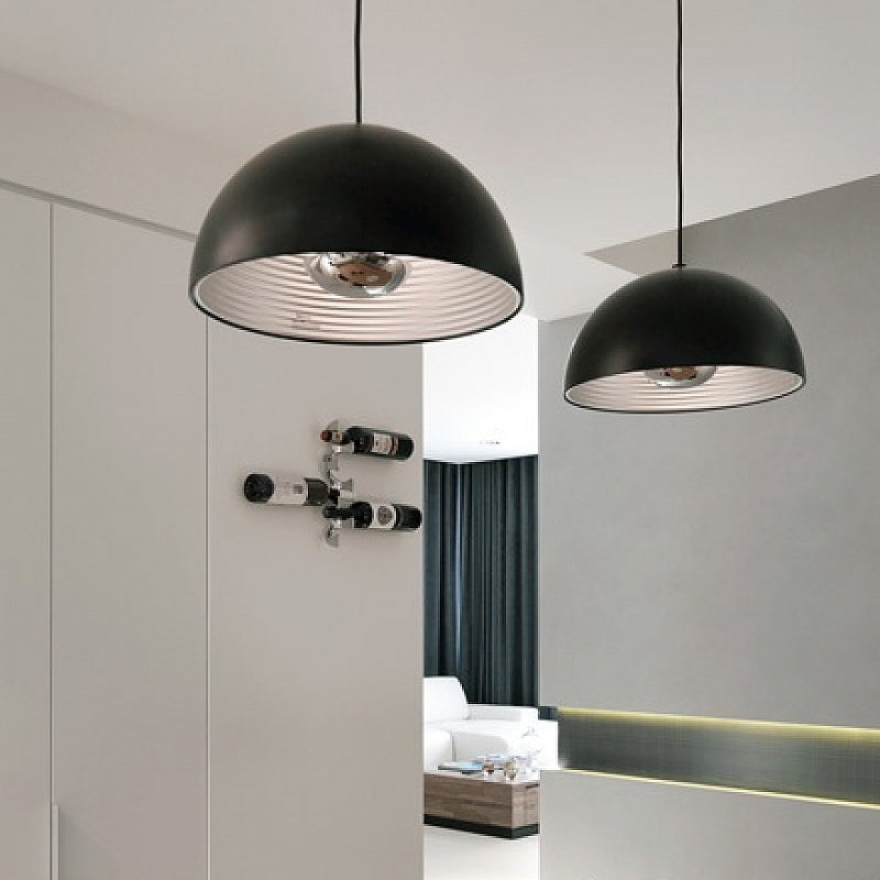 Dome Pendant - Matt Black - Large