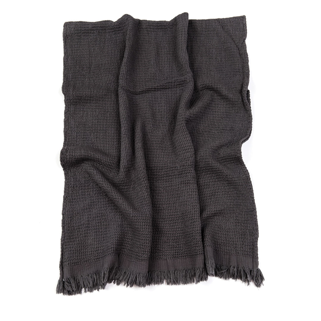 Ella Waffle Towel - Anthracite