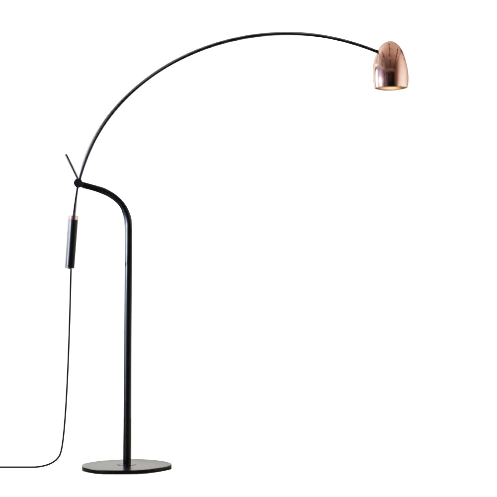 Hercules Floor Lamp - Brass+ Matte Black