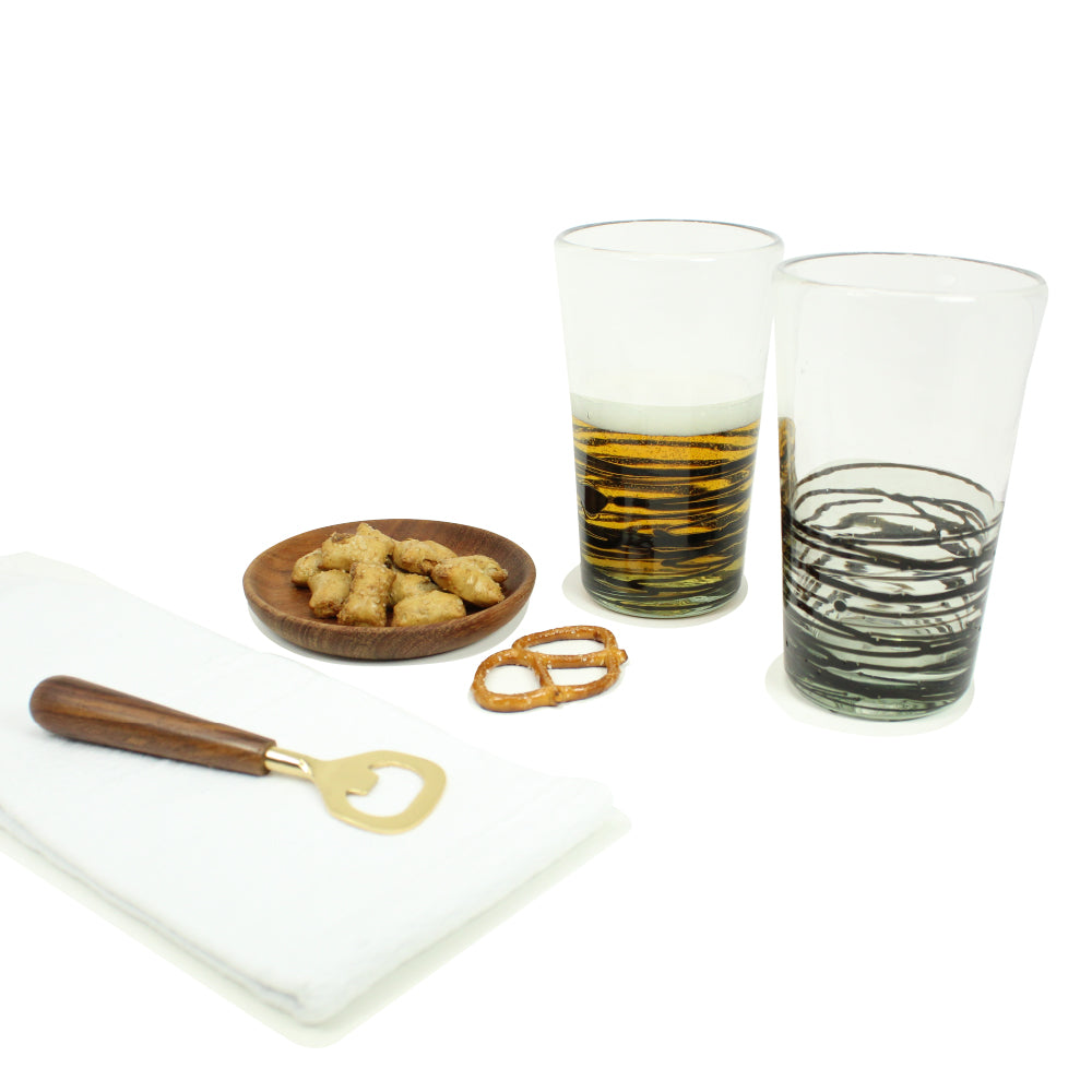 Pint Glasses & Bottle Opener Set