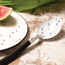 Porcelain Enamel Serving Spoon - Ants