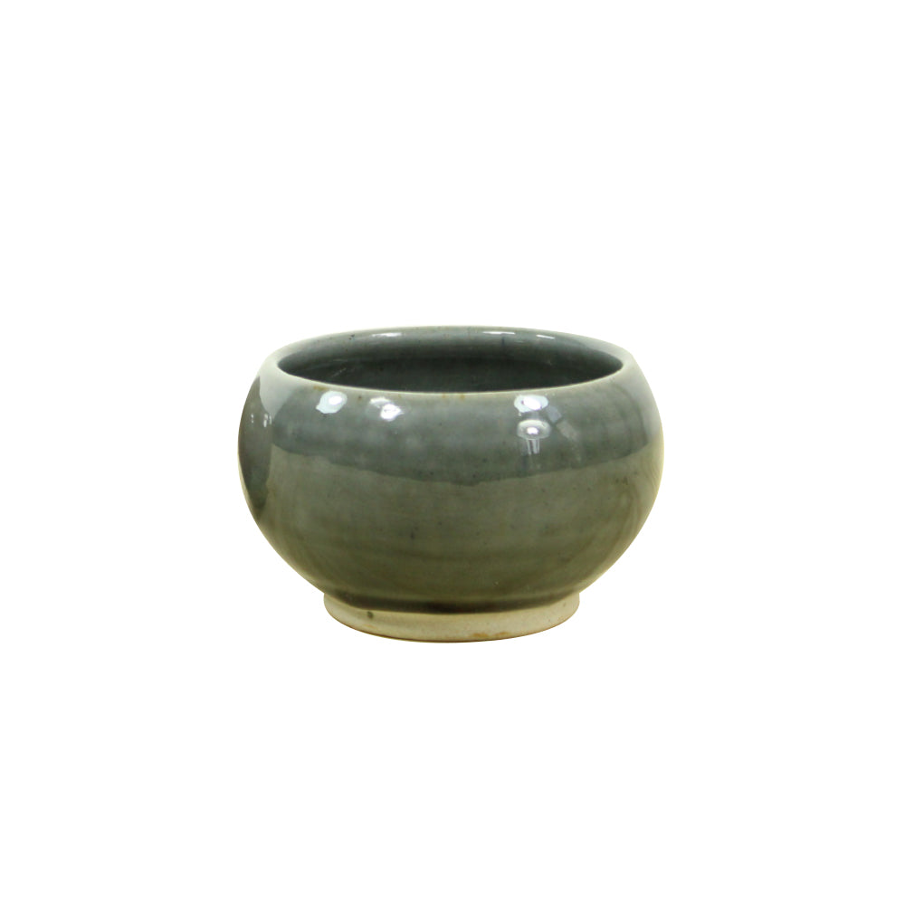 Oval Mini Planter - Grey