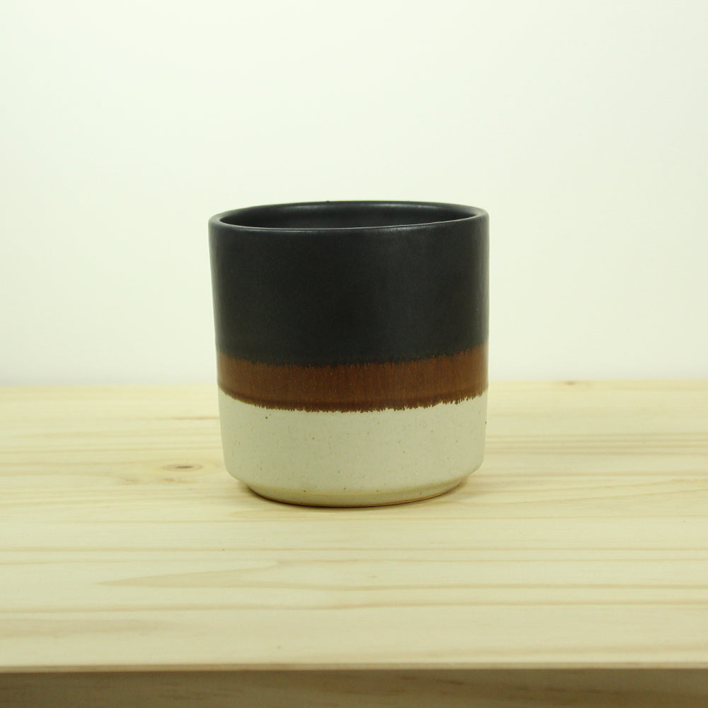 Nube Planter - Oatmeal / Terracotta / Black