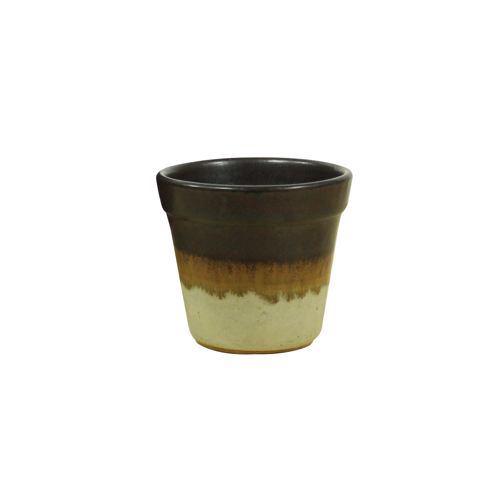 Nube Mini Planter - Oatmeal / Terracotta / Black