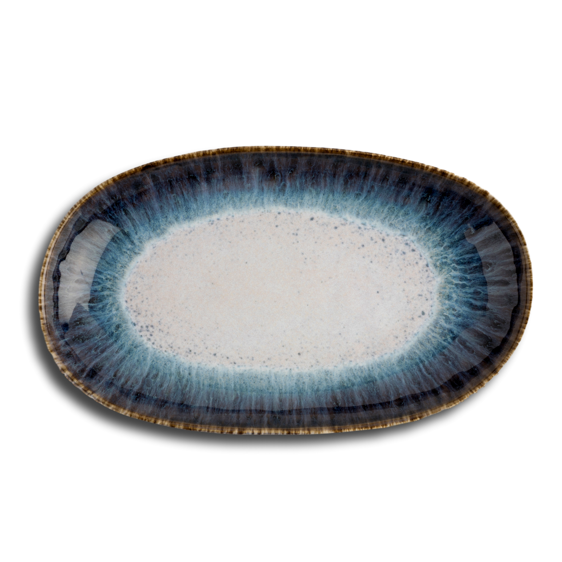 Oval Serving Tray - Ocean