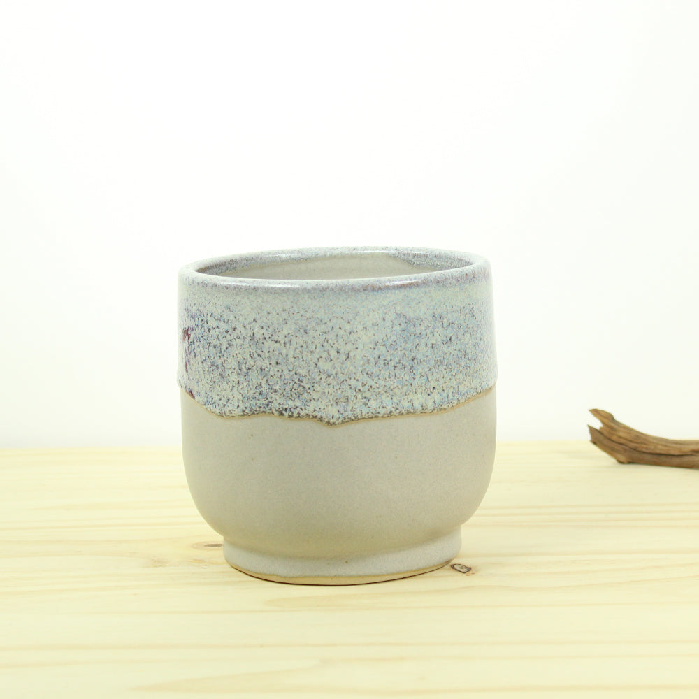 Nora Planter - Stone / Light blue