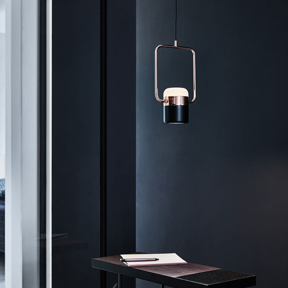 Ling V Pendant - Matte Black / Copper