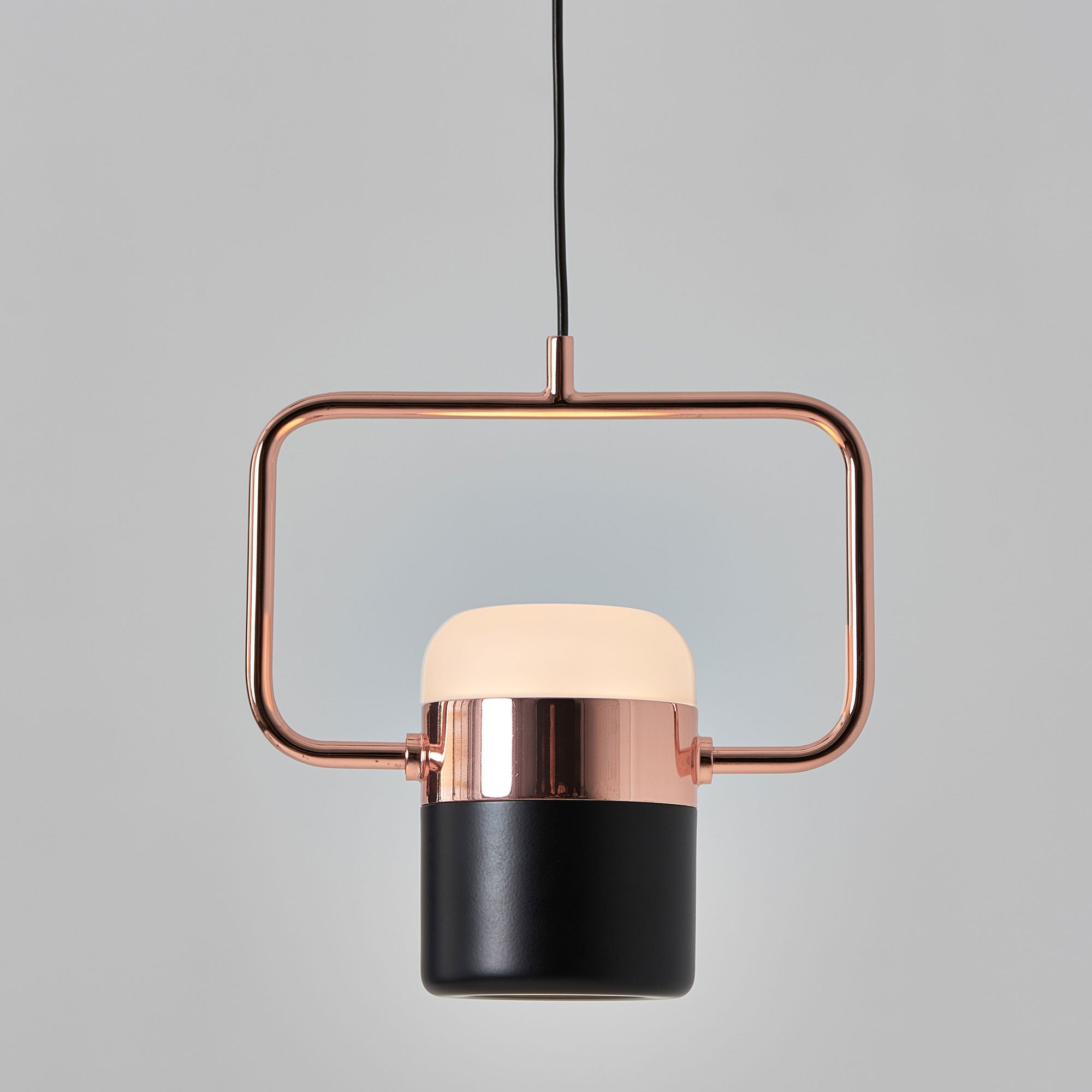 Ling H Pendant - Matte Black / Copper