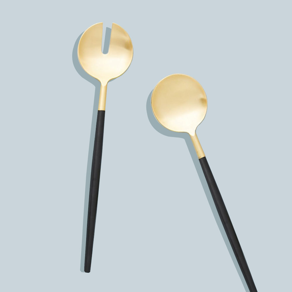 Serving Set -  Black & Gold