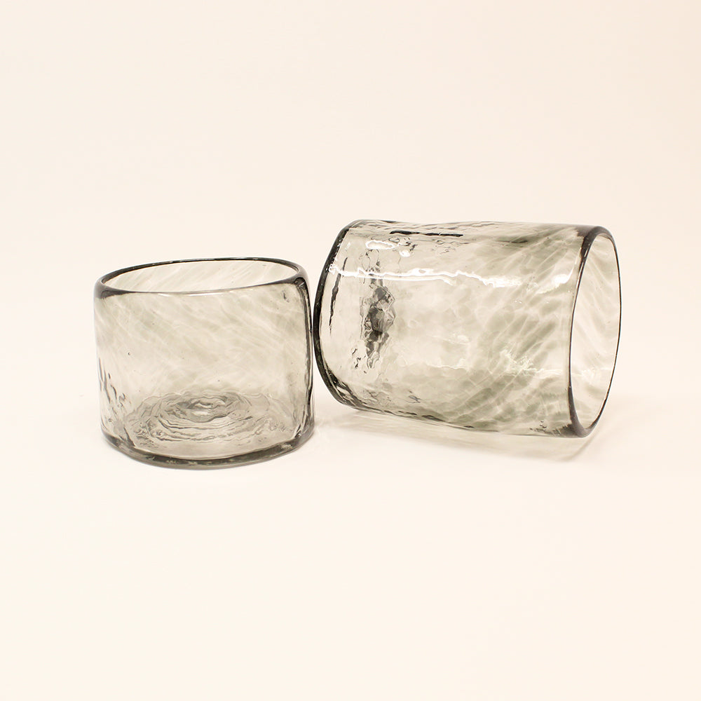Lena Handblown Small Glass - Smoke