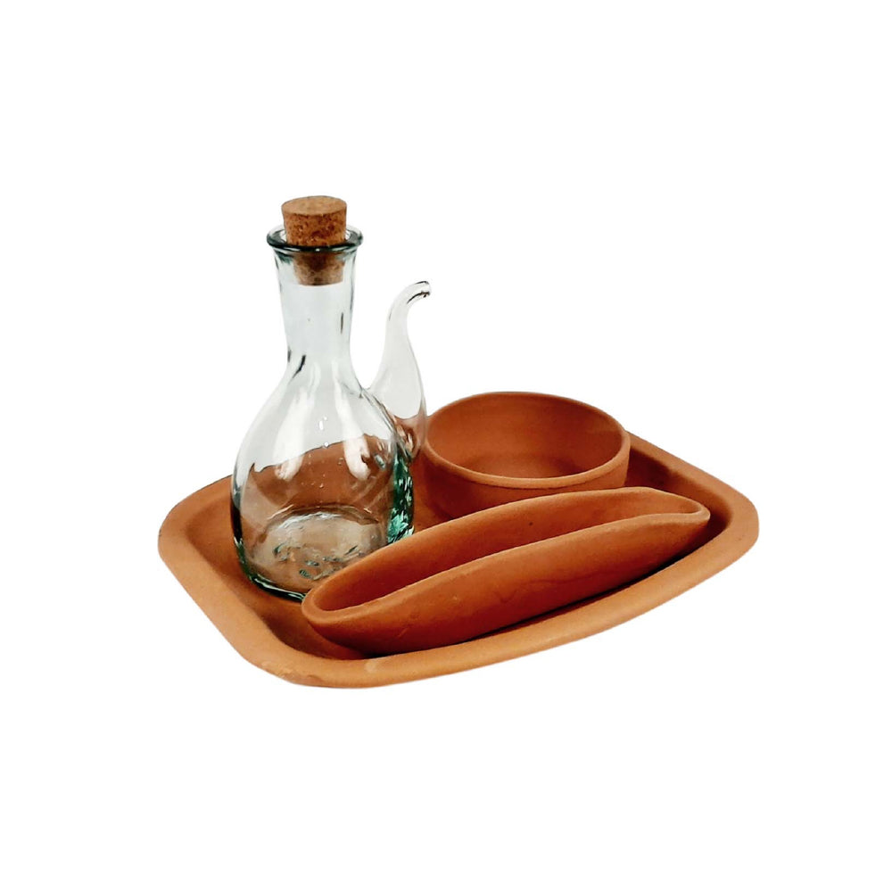 Tapas Set - Terracotta & Recycled Glass