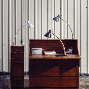 Laito Wood Table Lamp - Matte White + Wood