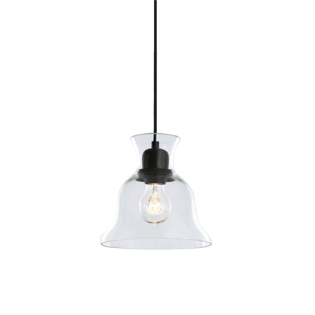 Salute Bell Pendant - Clear Glass