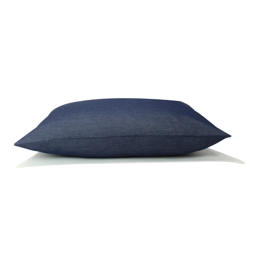 "Livia Pillow - Navy Denim - 14"" x 20"""