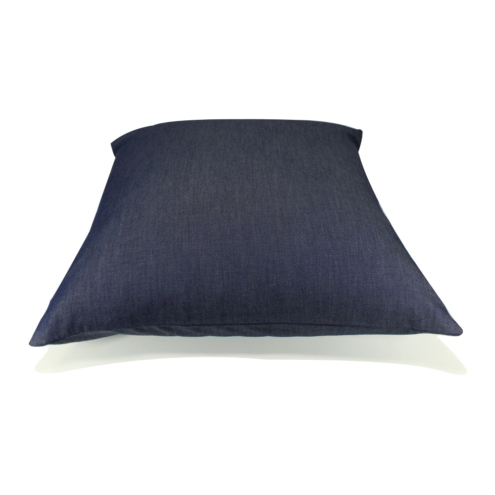 "Livia Pillow - Navy Denim - 20"" x 20"""