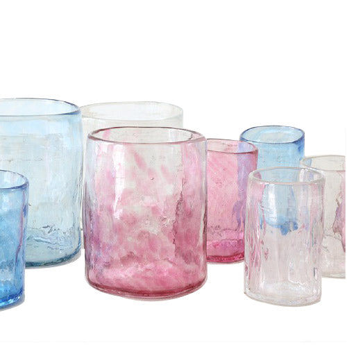 Lena Handblown Medium Glass - Fuchsia
