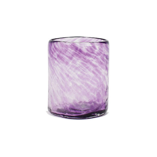 Lena Handblown Medium Glass - Plum
