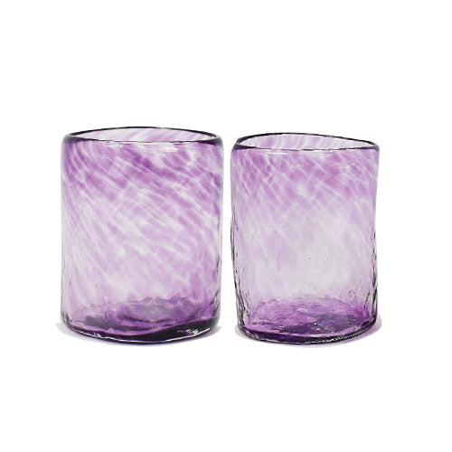 Lena Handblown Small Glass - Purple